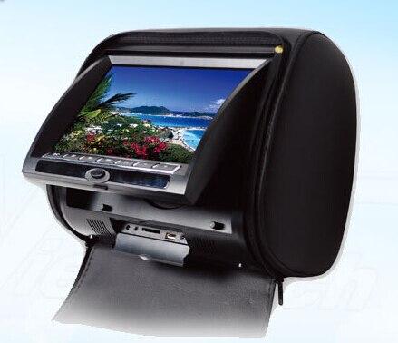 Envío Gratis 2X 7 pulgadas reposacabezas coche dvd digital panel con cubierta de cremallera + IR auriculares inalámbricos + juego de 32 bits + USB + SD + FM