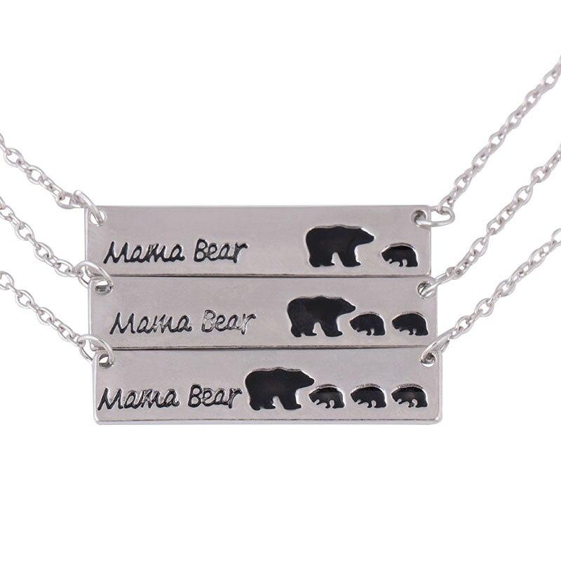 RONGQING 1 Uds joyería de moda 2018 nuevo collar de oso colgante collar de hombre para mujer