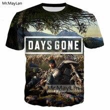 Horror Game Days Gone 3D Print Tshirt Men/women Hip Hop Streetwear Tee T-shirt Boy Punk T shirt Mens Custom Clothes Harajuku 5XL