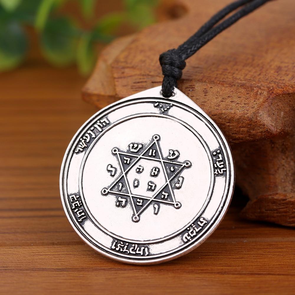 EUEAVAN 30 Uds. El segundo pentculo de Júpiter colgantes collares joyas de talismán para hombre mujer plata antigua/Color oro