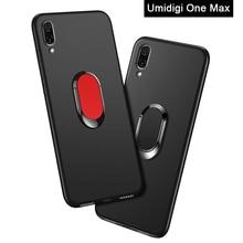 UMIDIGI ONE MAX Case luxury ONEMAX 6.3 inch Soft Black Silicone Magnetic Car Holder Ring Coque for UMIDIGI ONE MAX Phone Cover