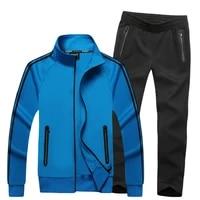 men sweatsuit 2020 spring autumn male sporting suit jacket sweatshirtpants sportswear two piece set tracksuit for men clothes