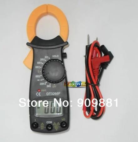 Min DT3266F Amperímetro Digital Clamp Meter Eletrônico Com Alarme Sonoro de Alarme Multi Braçadeira Ampères Amperímetro Medir AC/DC Tensão Resistor