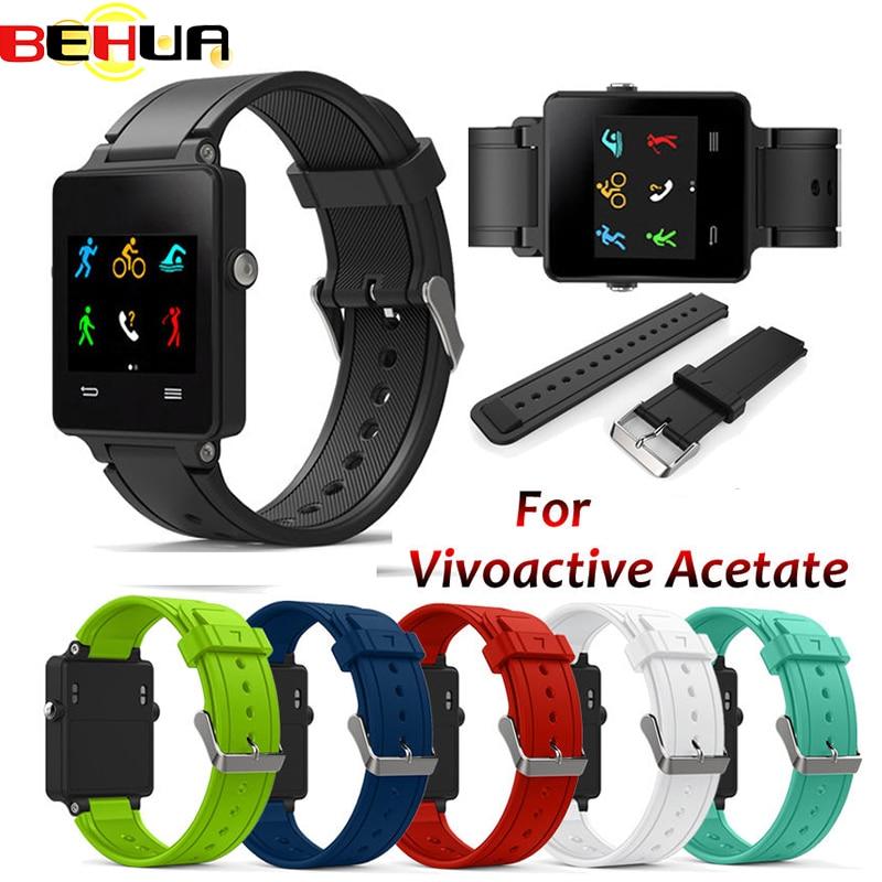 Neue Ersatz-Armband Silikon Armband Uhr Strap Band Für Garmin Vivoactive Acetat Sport Uhr Uhrenarmbänder Correa Reloj