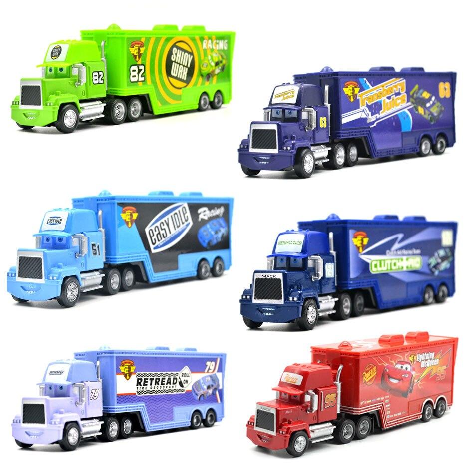 Disney Pixar Машинки 3 9 видов стилей Mack грузовик McQueen дядя 1:55 Diecast металлического сплава и пластик Модель игрушечные машинки, подарки для детей