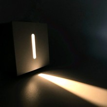 Intérieur Led escalier lumière AC85-265V encastré applique murale lumières 1W 3W étape lampes escalier lumières couloir éclairage livraison directe