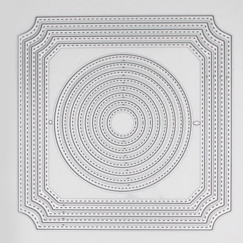 Metal steel frames Cutting Dies circle irregular figure  DIY Scrap booking Photo Album Embossing paper Cards 14.9*14.9cm