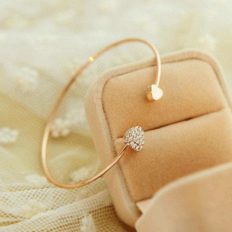 Correa de cristal ajustable para Mujer, brazalete de apertura para mujeres, joyería...
