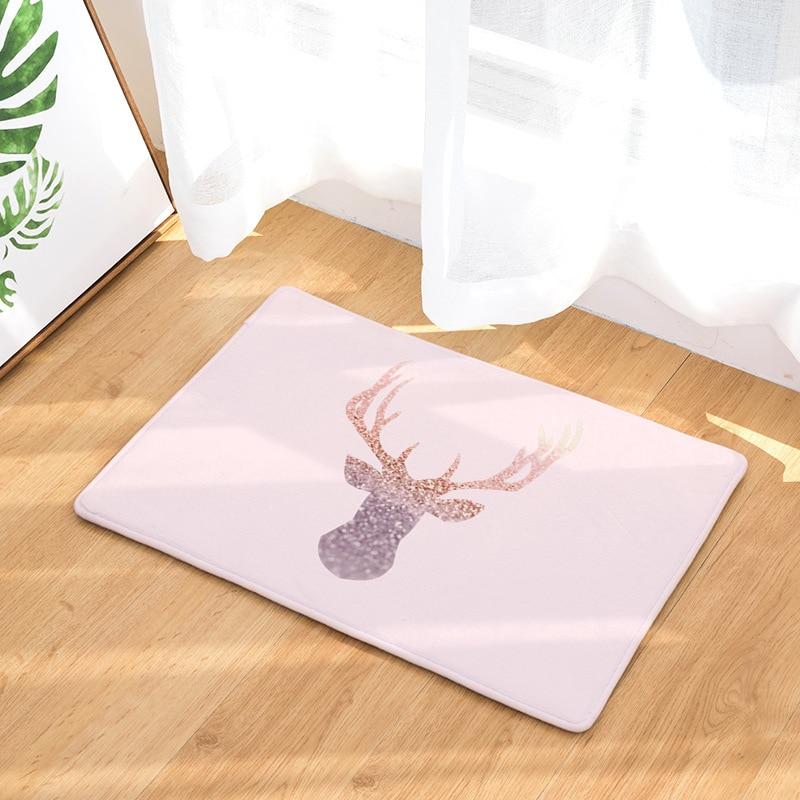 CAMMITEVER олень слон ананас сердце с блестками печатные ковры Противоскользящий напольный коврик уличные коврики животные коврики для входной...