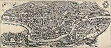 빈티지지도 포스터 골동품 마을보기 로마 (1641) 클래식 캔버스 회화 빈티지 벽걸이 스티커 홈 장식 선물