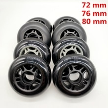 free shipping roller skates non-flashing wheel skate wheel 72 mm 76 mm 80 mm bearing ABEC-9