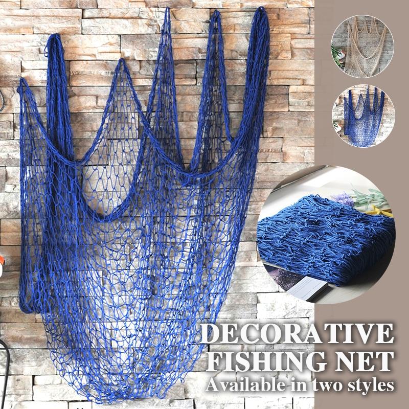 1*2 м Ceative подвесная сеть средиземноморская пеньковая веревка Декор сети декоративная рыболовная сетка настенный Морской Декор тема океана