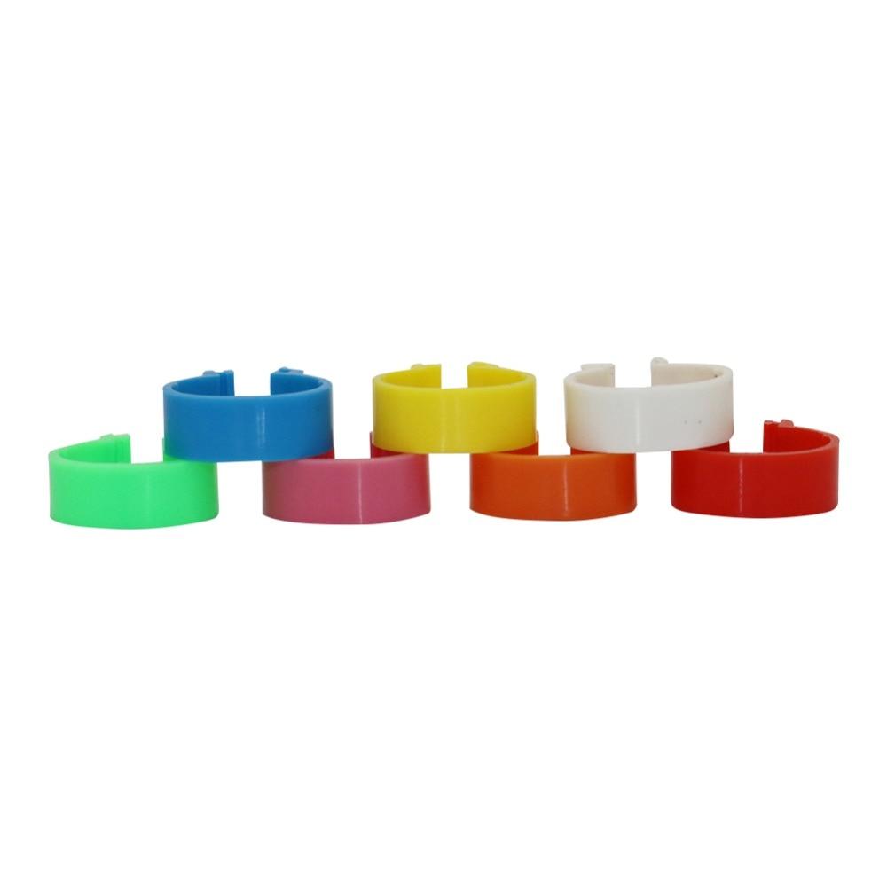 Anillo Para patas de gallina en 7 colores, diámetro interior de 1,6 cm, anillos tipo hebilla de plástico, suministro de alimentación para aves, Ganso, pollo, 210 Uds