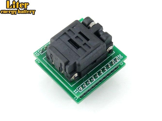 Adaptador QFN20 a DIP20 MLF20 MLF20 MLP20 Plastronics 20QN50S14040 QFN IC adaptador de programación de toma de prueba quemada 0,5 Pitch