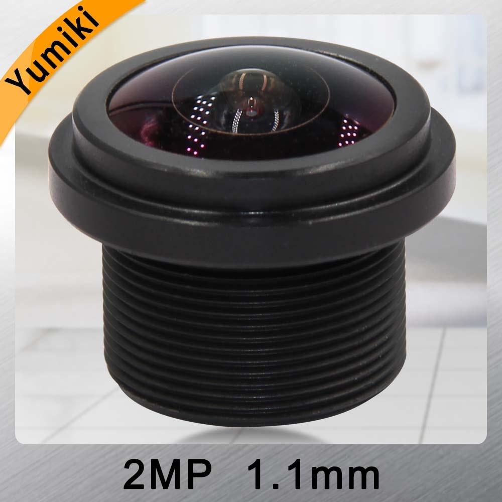 Объектив видеонаблюдения Yumiki 2MP, 1,1 мм, 1/4 дюйма, F1 2,0, 200 градусов, M12, для камеры видеонаблюдения и панорамной камеры