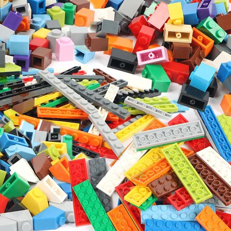 100 г/упак. разноцветная модель DIY строительные блоки детали игрушки оптом для строительных кирпичей детские игрушки подарок