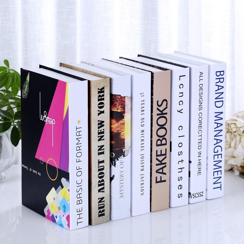 8 UNID fabricantes que venden falsos libro libro estantería Decoración salón cafetería caja de simulación apoyos Libro shell adornos