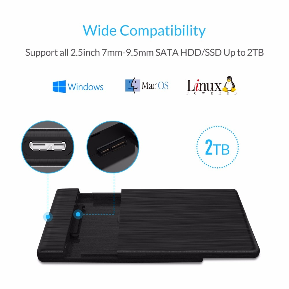 ORICO 2.5 Inch SATA to USB 3.0 HDD Case USB3.0 MicroB External Hard Drive Disk Enclosure High-Speed UASP SSD Case for WD Seagate enlarge