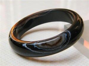 100% натуральный Сертифицированный красивый черный браслет оникс 64 мм a 5,19
