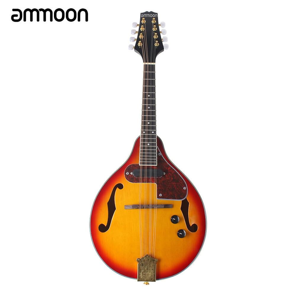 Qualidade superior 8-string elétrica mandolin um estilo rosewood fingerboard instrumento de corda com cabo cordas pano de limpeza