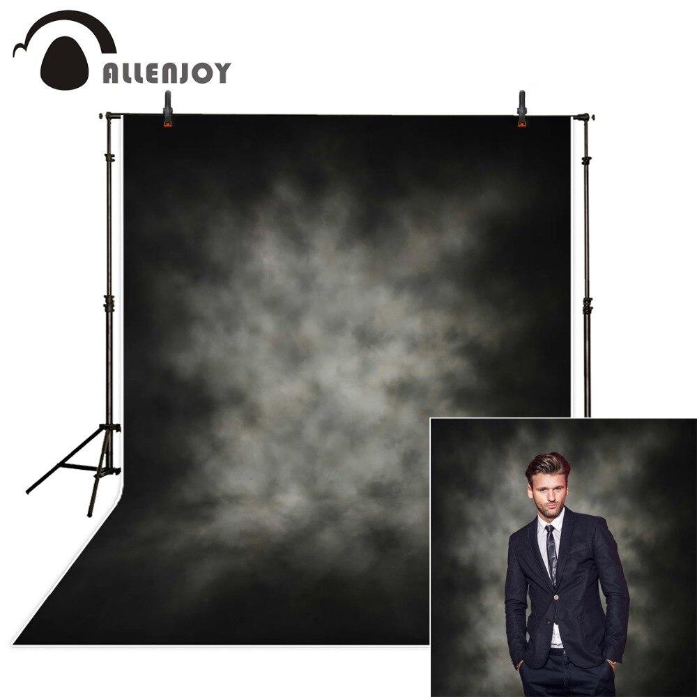 Allenjoy фон для фотосъемки черно-белый туманный однотонный Автопортрет Фотофон для фотостудии