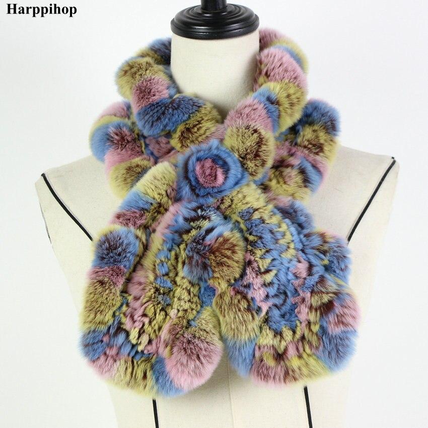 2018 Rex Coelho Lenço da Pele Moda Neck Warmer Feminino Lenços Envoltório Xale De Pele Real Russa 100% Natureza Pele para o inverno * Harppihop
