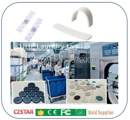 free sample UHF RFID tag laundry Washable heat resisting 915m 868m 860-960M Alien H3 EPC Gen2 6C long range passive RFID tag