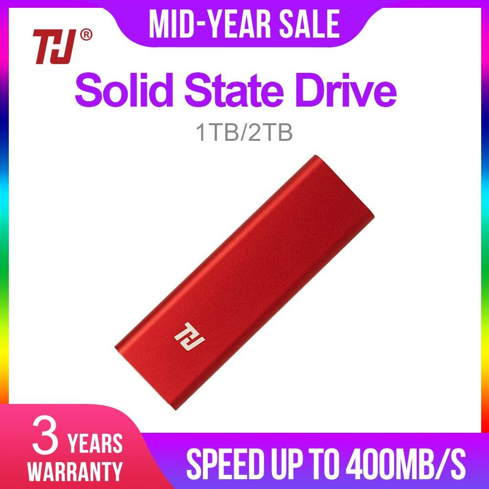 THU-محرك أقراص صلبة خارجي SSD صغير عالي الدقة بسعة 128 جيجابايت ، 256 جيجابايت ، 512 جيجابايت ، 1 تيرا بايت بايت ، كمبيوتر محمول ، كمبيوتر شخصي ، كمبيو...