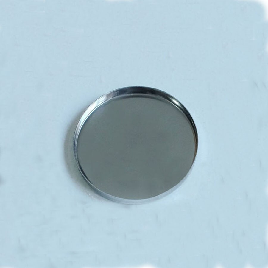 100 pçs/lote 58mm Rodada Magnético de Ferro Inoxidável Pressionado pan para a Sombra, maquiagem magnético pan