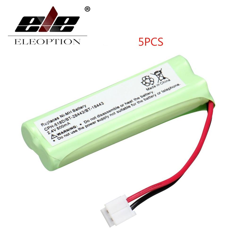 ELEOPTION 5 шт. Аккумулятор для домашнего телефона портативная рация батарея 2,4 V 500 mAh аккумулятор для домашнего телефона для CPH-518D/BT-28443/BT-18443