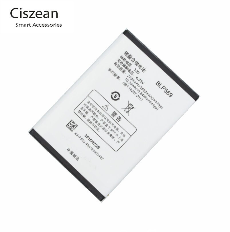 Ciszean alta calidad 3,8 V 2800mAh BLP569 reemplazo de la batería para OPPO Find7 encontrar 7a X9000 X9007 X9006 X9077 X9070 teléfono