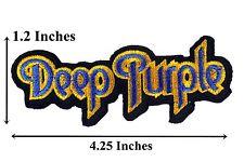 Preço mais baixo bordado remendos nome barato Deep Purple nome emblema bordado remendos do Punk Rock Music Band Iron On Jacket