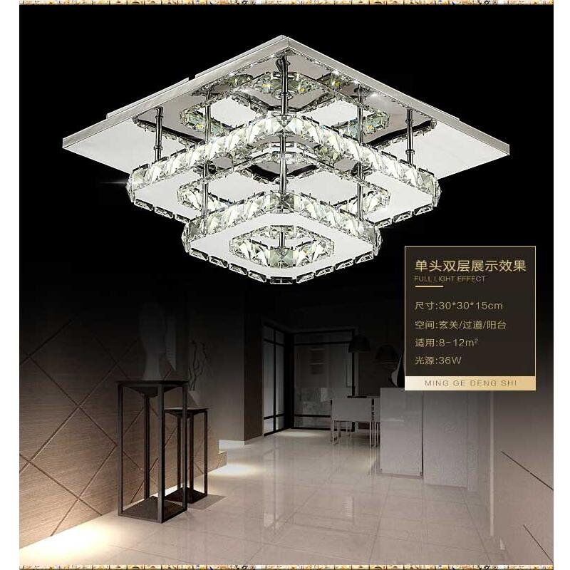 Modern crystal led luces de techo dormitorio salón plafond lámpara lampen kristal diseño lámparas Luminarias Lustre