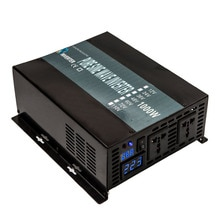 Onduleur solaire à onde sinusoïdale Pure   Onduleur électrique de voiture, 24V 220V 1000W, 12V/24V/48V cc à 120V/220V/240V