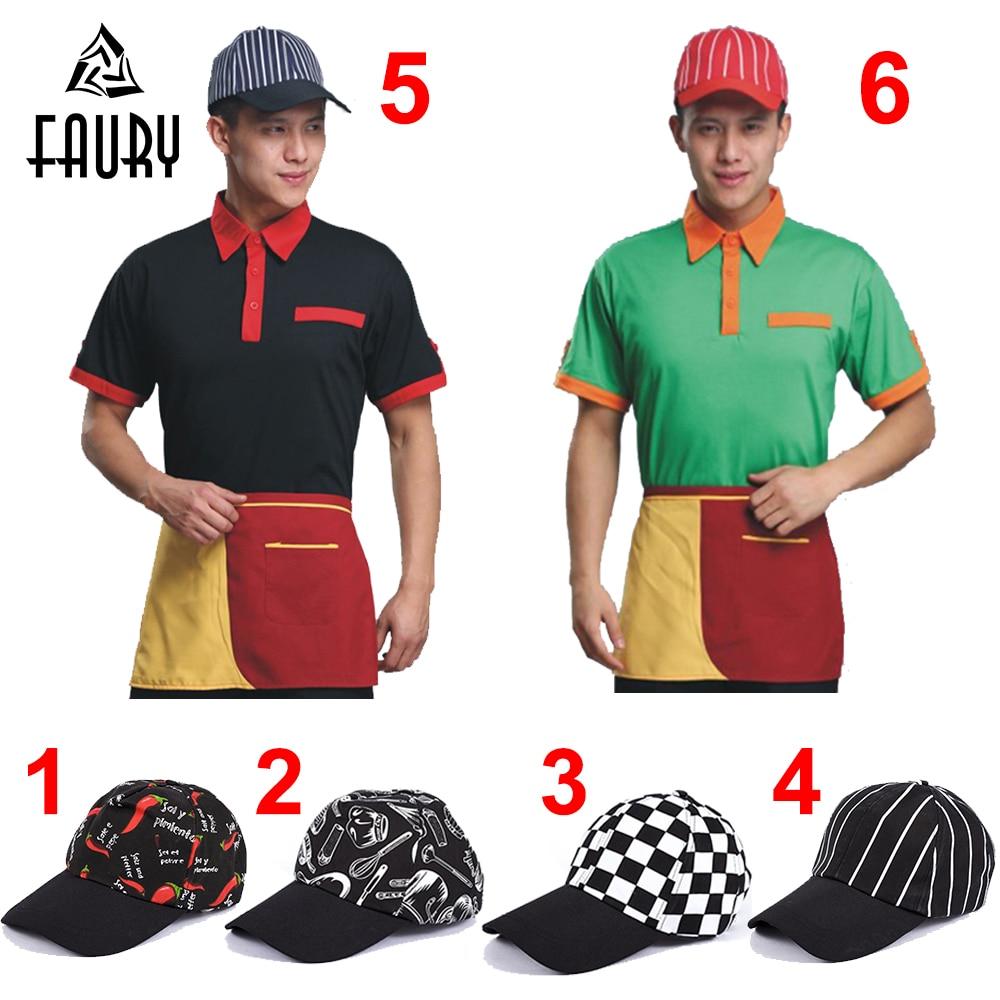 Кепка для ресторана, кухни, шеф-повара, для готовки, кафе, хлебобулочных изделий, барбекю, дышащая, для работы, бейсболка, шапки, унисекс
