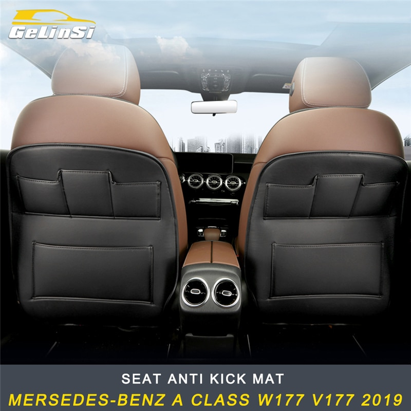 GELINSI asiento Anti Kick Mat accesorios para Mercedes-benz Clase W177 V177 2019 Auto