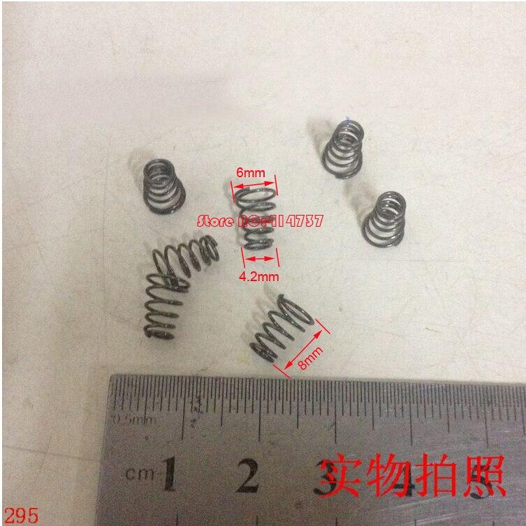 20 pcs 0.5*4.2 & 6*8mm mola De Aço cônico 0.5mm fio sprial cônica compressão primavera dupla mola cônica