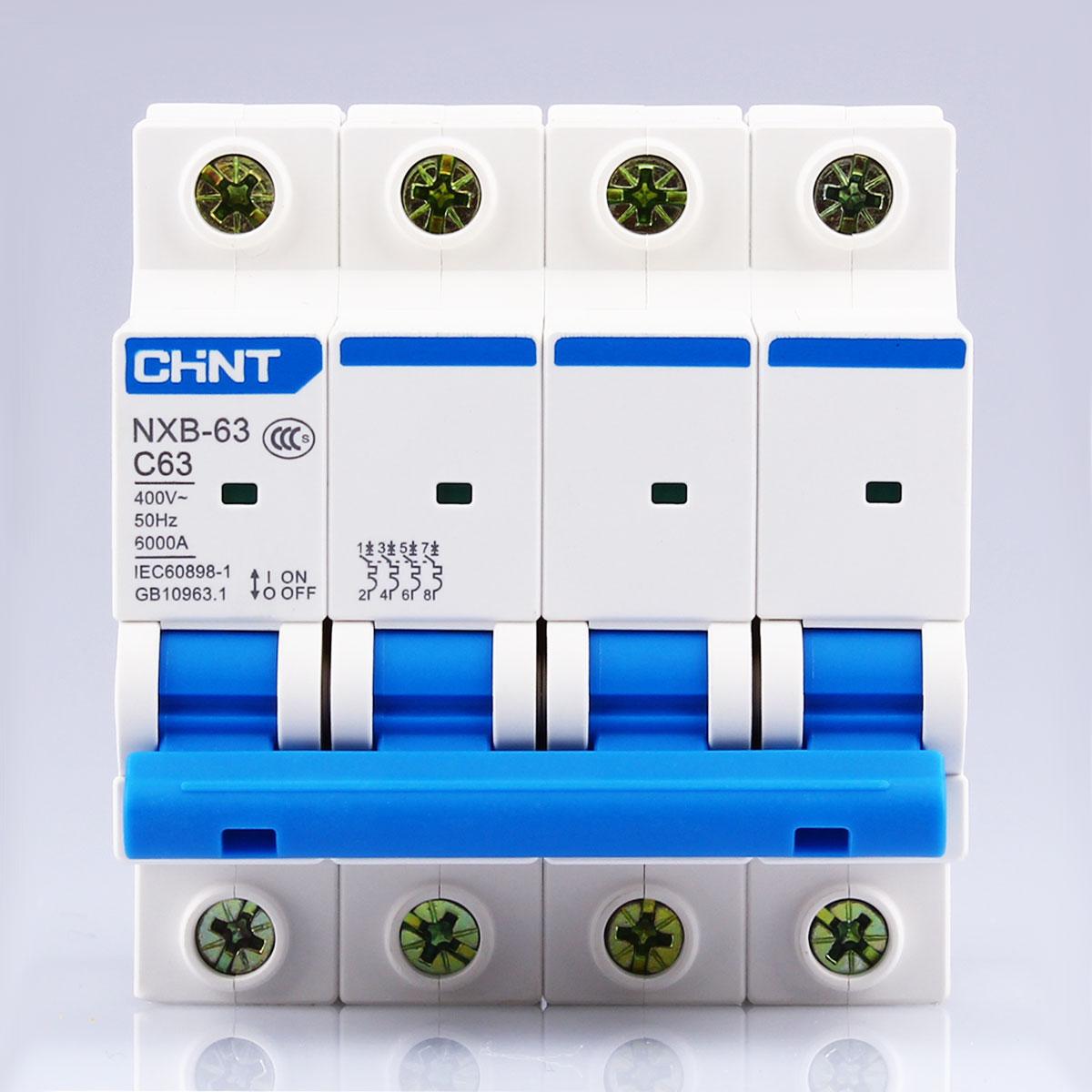CHNT CHINT NXB-63 4P 1A 2A 3A 6A 10A 16A 20A 25A 32A 40A 63A 230V 380V Miniature Circuit breaker MCB NEW DZ47
