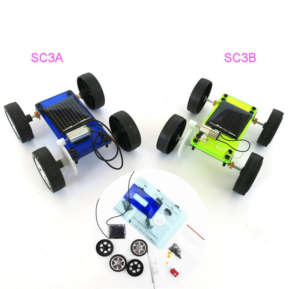 Heißer 1 stücke DIY Solar Power Mini Angetrieben Spielzeug Auto Kit Roboter Moving Racer Kinder Pädagogisches Gadget Hobby Lustige Solar auto W508
