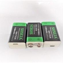 9V 1180mAh USB Rechargeable 9V Lipo batterie pour caméra RC Drone accessoires 9V batterie USB batterie