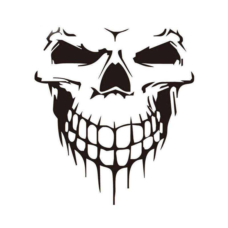Car Sticker Car Tattoo Skull Skeleton Large Decorative Sticker (Black)