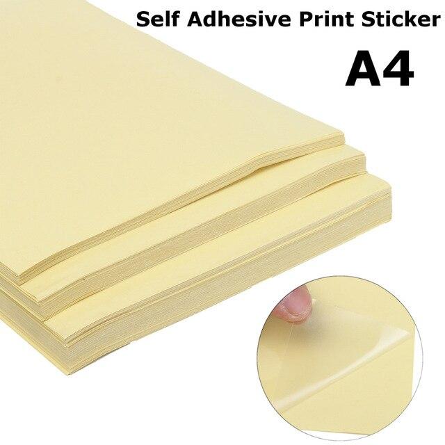 20 piezas adhesivo mate transparente Papel de impresora A4 autoadhesivo brillo transparente etiqueta adhesiva para impresoras láser brillante