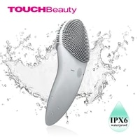 touchbeauty facial cleansing brush sonic vibration face cleaner double sided silicone deep pore cleaning face massager tb 1788g