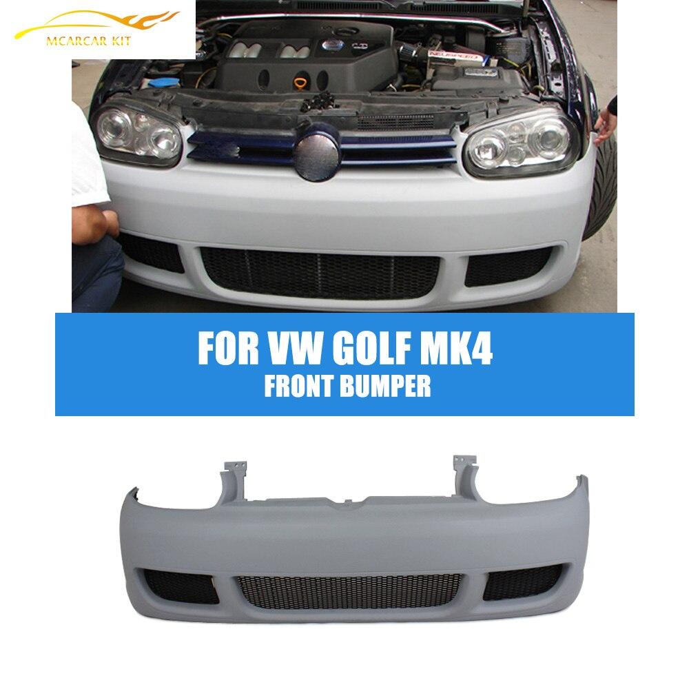 Pare-chocs avant en PU pour Volkswagen golf MK4   kit de protection avant, style de voiture, non peint, 1998-2005