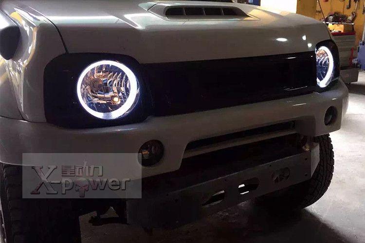 FREE SHIPPING Head light for Suzuki Jimny JB43 Angle eyes light headlight 4X4 offroad accessories smoky style