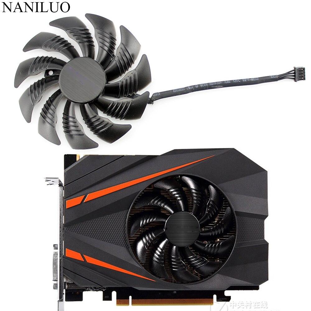 Ventilador ventoinha t129215su 88mm pld09210s12hh, substituição para gigabyte geforce gtx 1080 gtx1070 1060 1050 ti ventilador mini itx g1 radeon ventilador para jogos