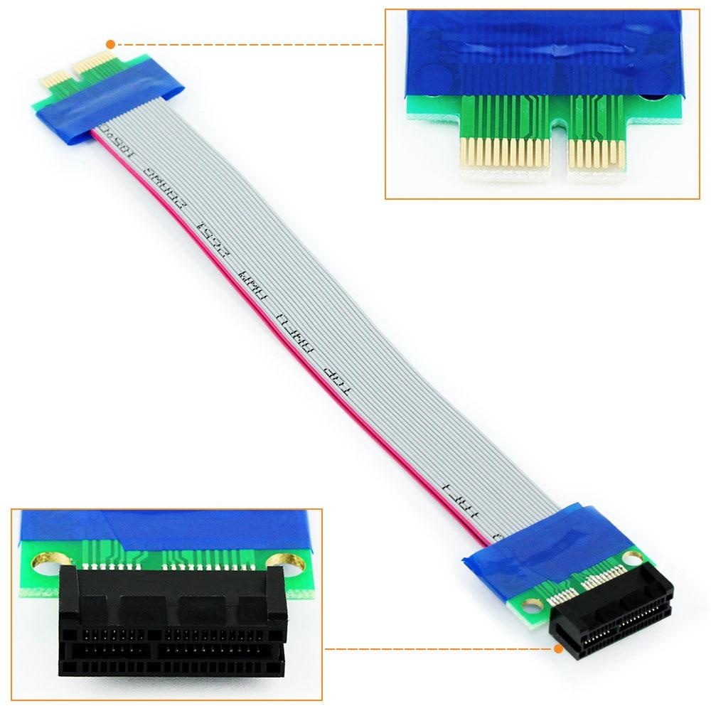 PCI Express PCI-E 1X mâle à PCIe femelle câble dextension pour carte mère Riser carte dextension ruban adaptateur