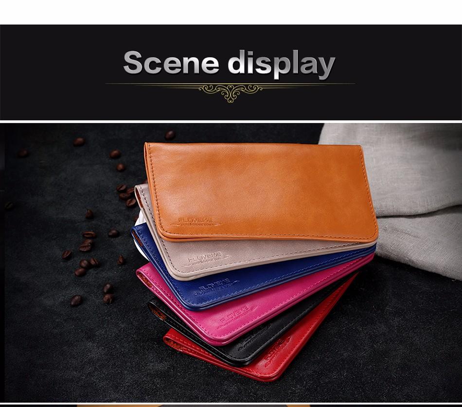 Floveme luksusowe retro skórzany portfel torby phone case do samsung s7 s6 s5 dla iphone 7 6 6 s plus se 5S 5 miękka pokrywa torebka marki 17