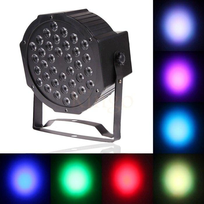 Kingoffer 36 LED Luz de escenario RGB Par luz DMX512 Maestro Esclavo LED plano DJ equipo controlador Discos KTV fiesta de música uso