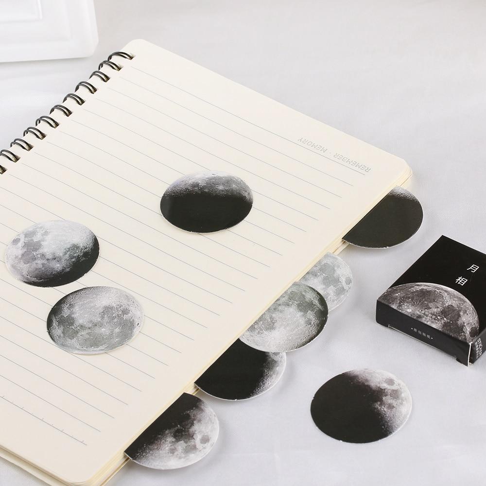 45 teile/schachtel Mond Phase Lack Papier Aufkleber Dekoration Mini Mond Eclipse Aufkleber DIY Tagebuch Label Scrapbooking Mode Telefon Decor